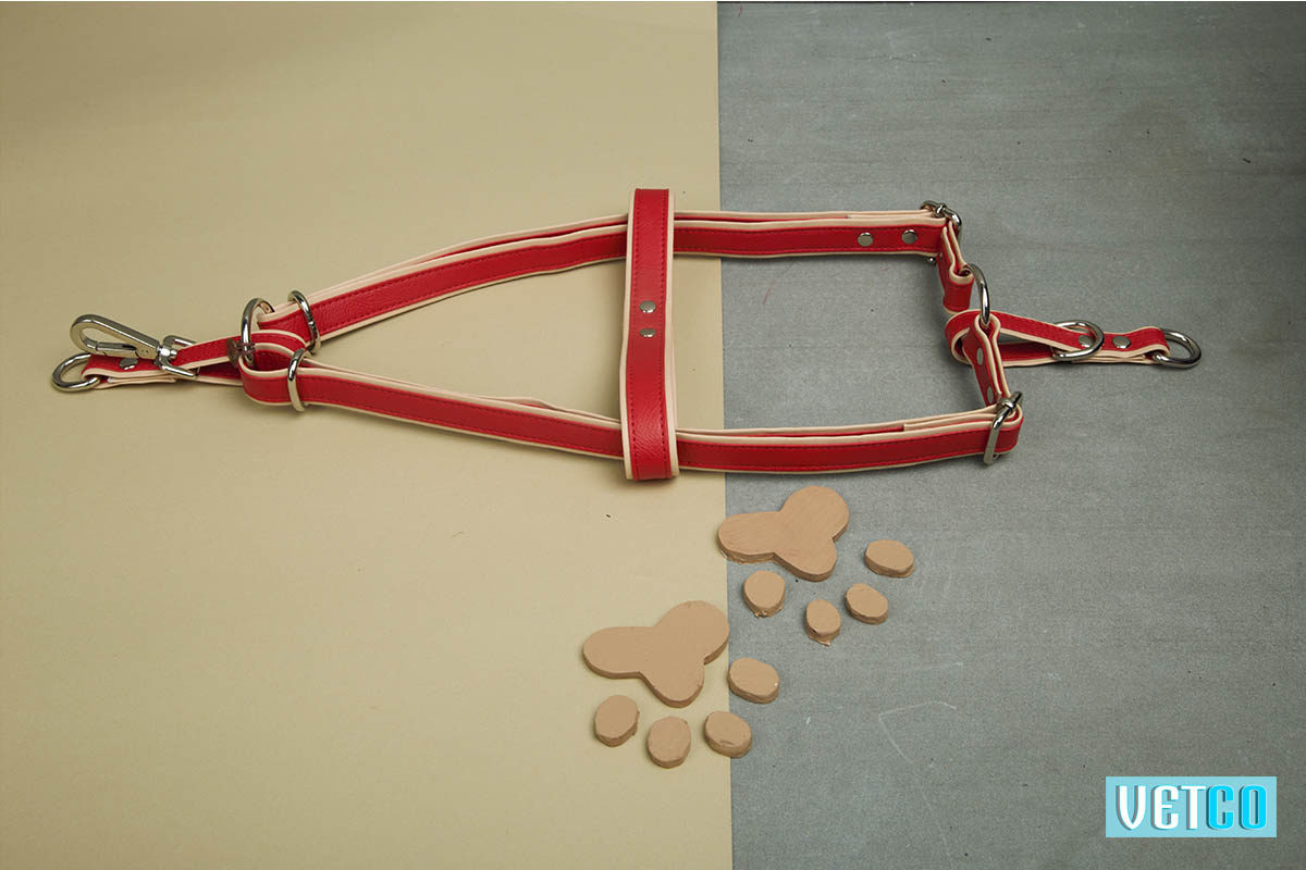 We Exist Candy Apple Red Vegan Leather Harness