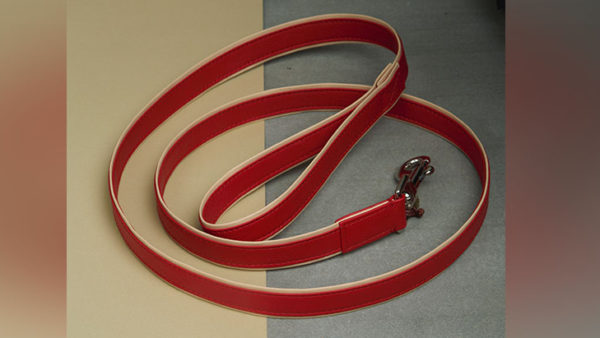 We Exist Candy Apple Red Vegan Leather Leash