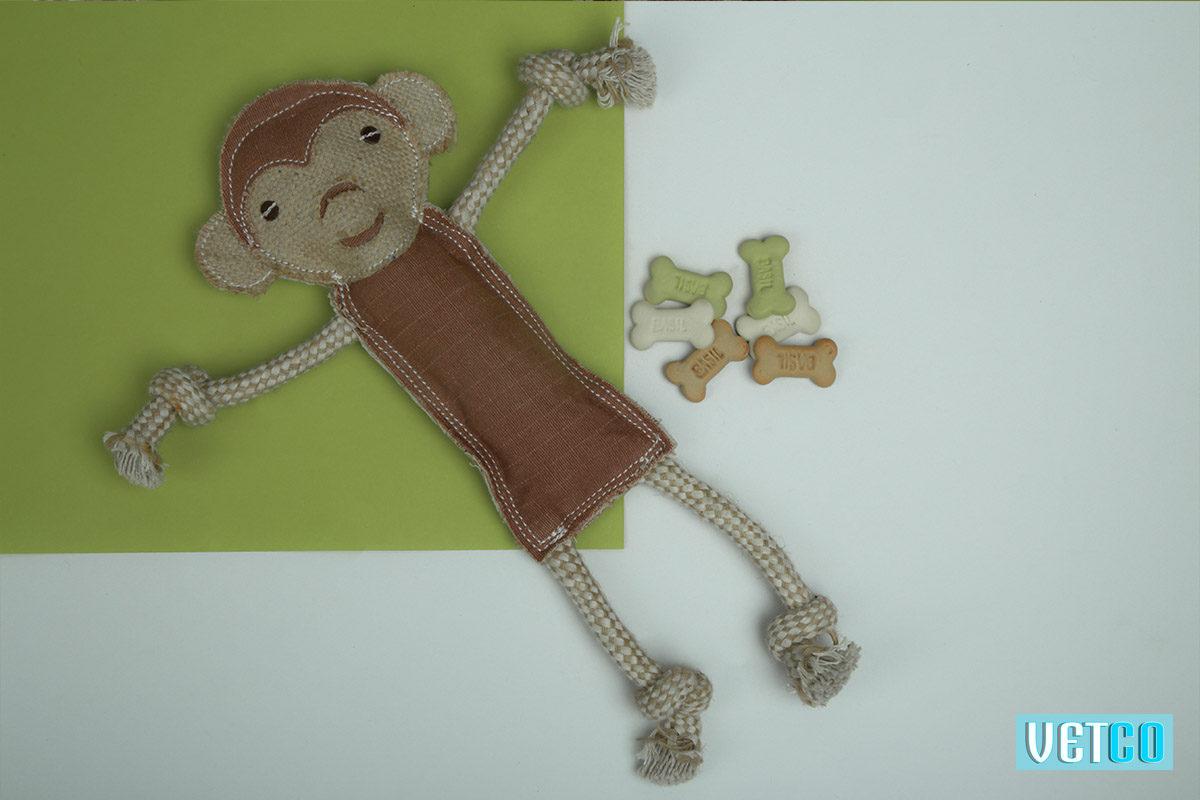 We Exist Curious Monkey Handmade Dog Toy