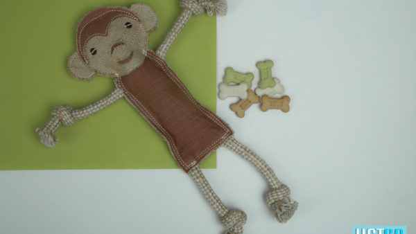 We Exist Curious Monkey Handmade Dog Toy