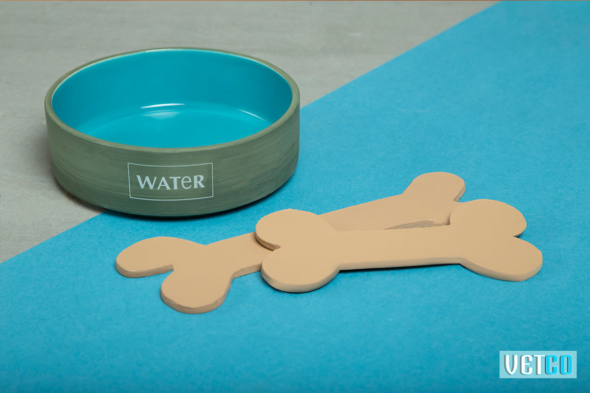 We Exist Glacier Blue Ceramic Water Bowl
