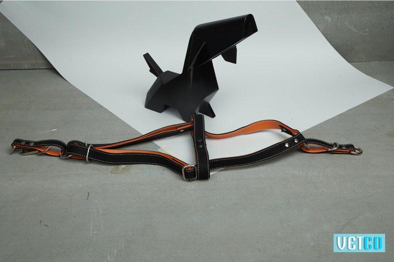 We Exist Orange Crush Denim & Vegan Leather Harness