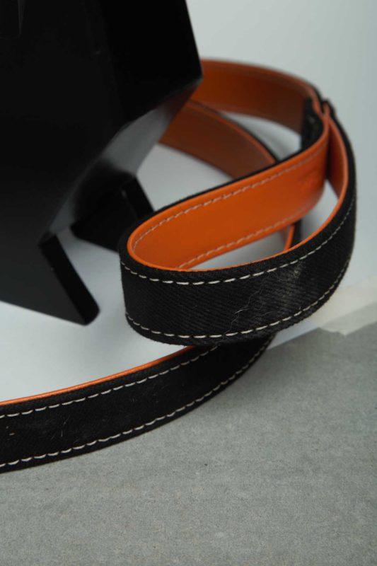 We Exist Orange Crush Denim & Vegan Leather Leash