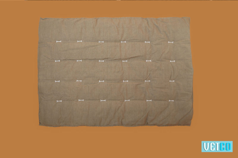 We Exist Terracotta Orange & Doe Grey Reversible Bed