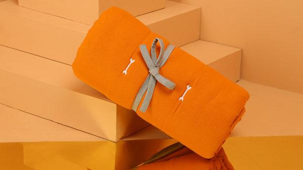 We Exist Terracotta Orange & Doe Grey Reversible Bed