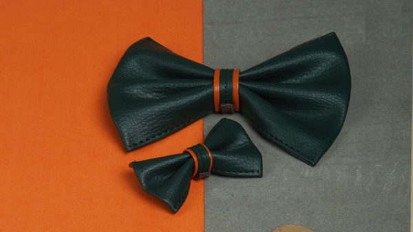 We Exist Through the Garden Green Bow Tie