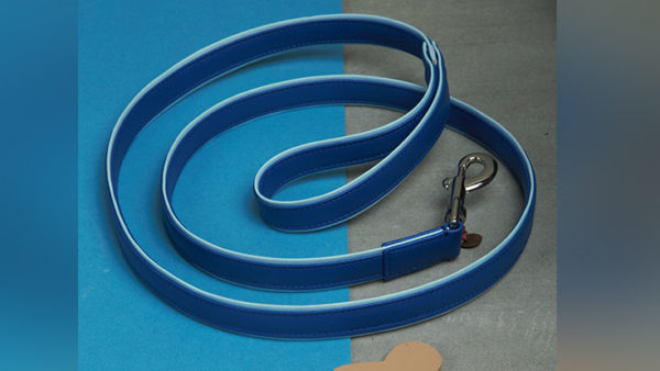 We Exist Tickle Me Blue Vegan Leather Leash
