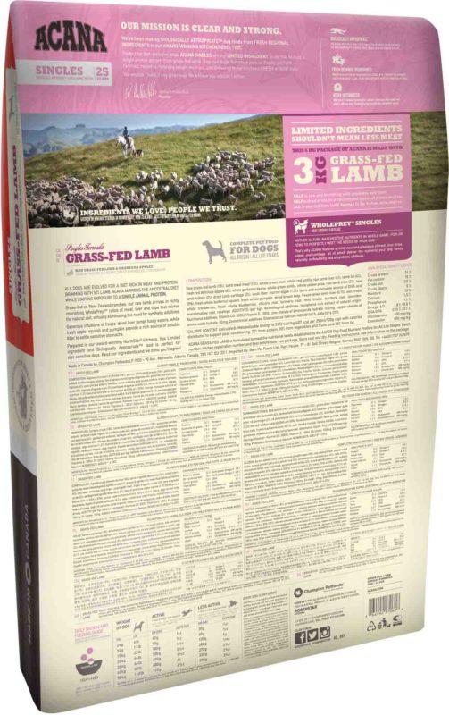 Acana Grass-Fed Lamb Dry Dog Food (All Breeds & Sizes)