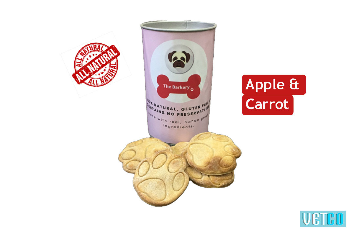 the barkery apple carrot dog biscuits