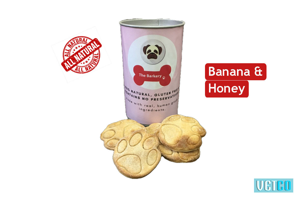 The Barkery Banana Honey Dog Biscuits