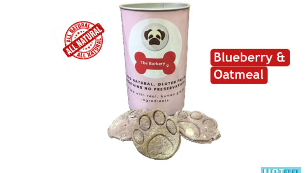 the barkery Blueberry Oatmeal dog biscuits