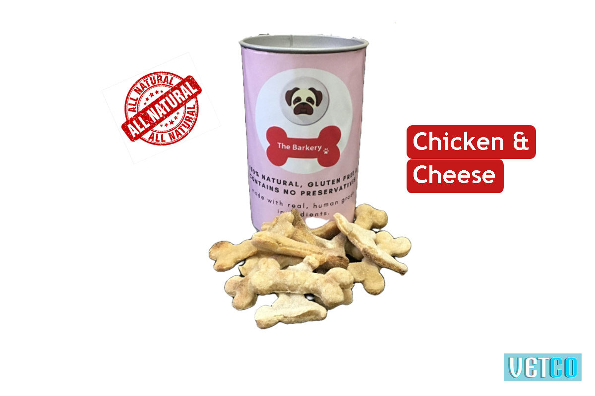 the barkery chicken cheese dog biscuit