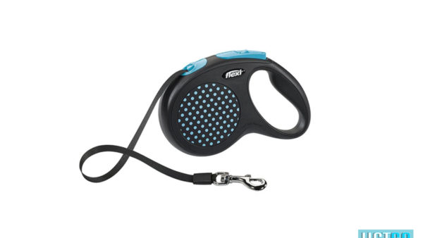 Flexi Design Retractable Tape Dog Leash - Blue