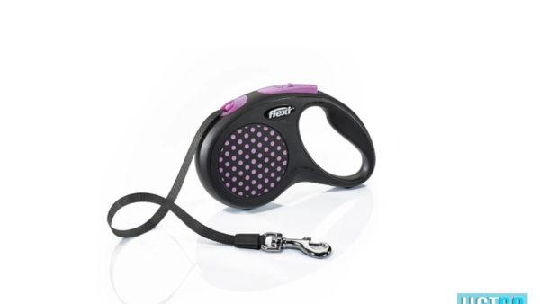 Flexi Design Retractable Tape Dog Leash - Pink