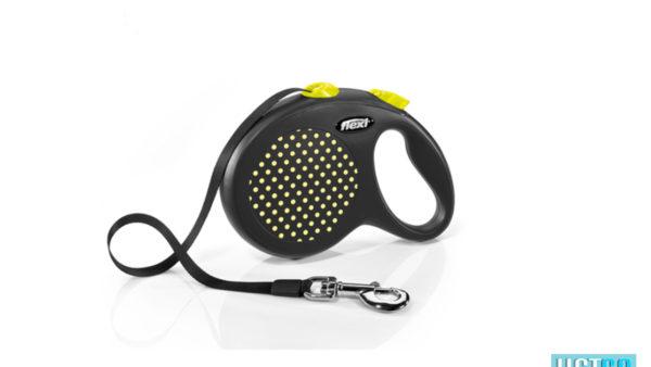 Flexi Design Retractable Tape Dog Leash - Yellow