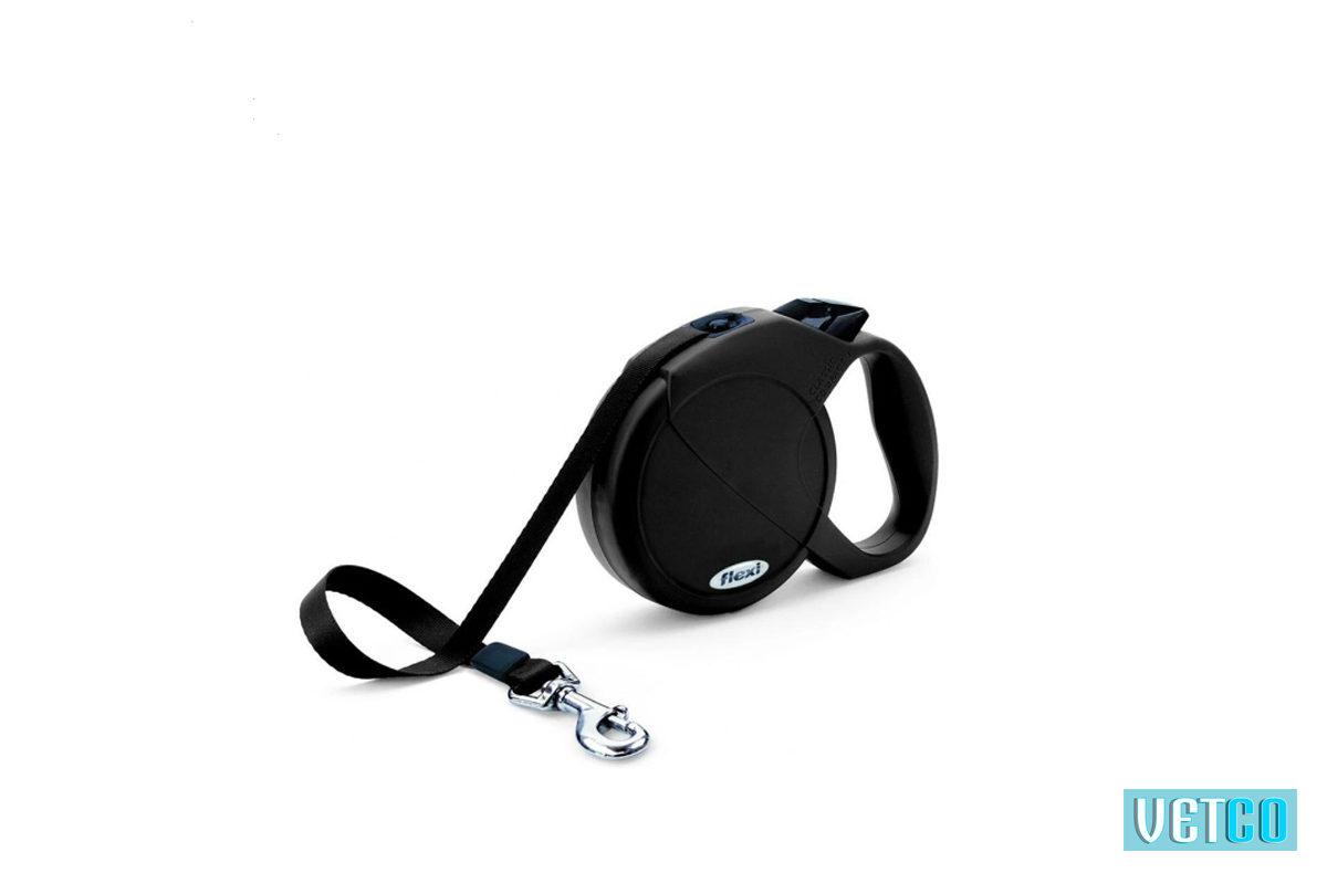 Flexi Fun Retractable Tape Dog Leash - Black