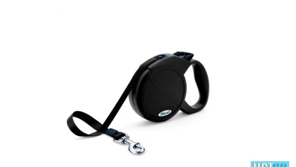 Flexi Fun Retractable Tape Dog Leash - Black