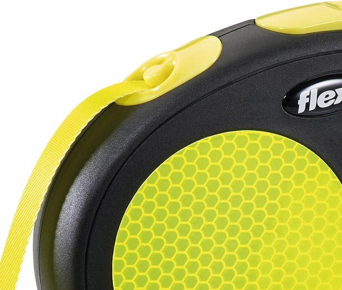 Flexi Neon Retractable Tape Dog Leash