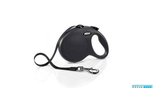 Flexi New Classic Retractable Tape Dog Leash - Black
