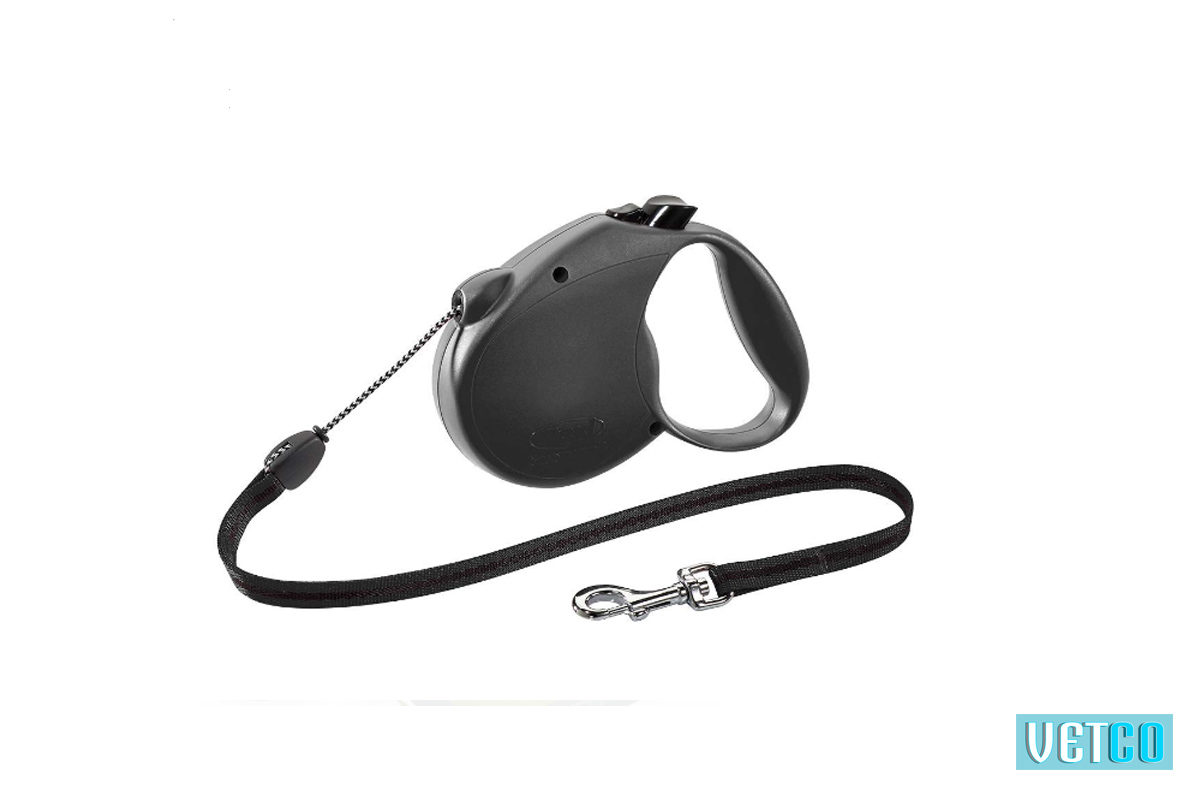 Flexi Standard Retractable Tape Dog Leash - Black
