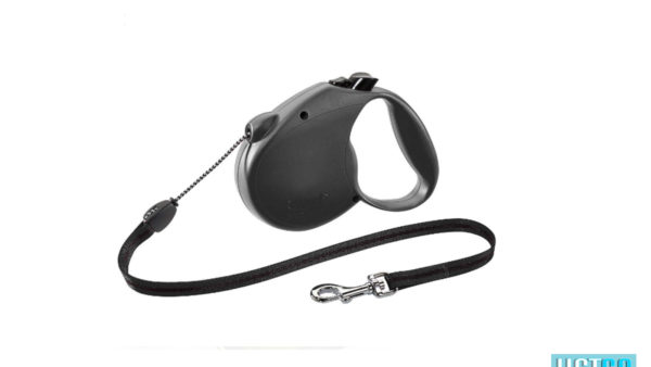 Flexi Standard Retractable Tape Dog Leash - Black