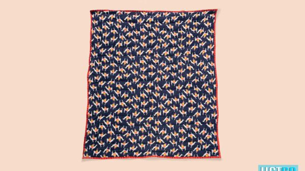We Exist Fuzzy Lama Reversible Quilt