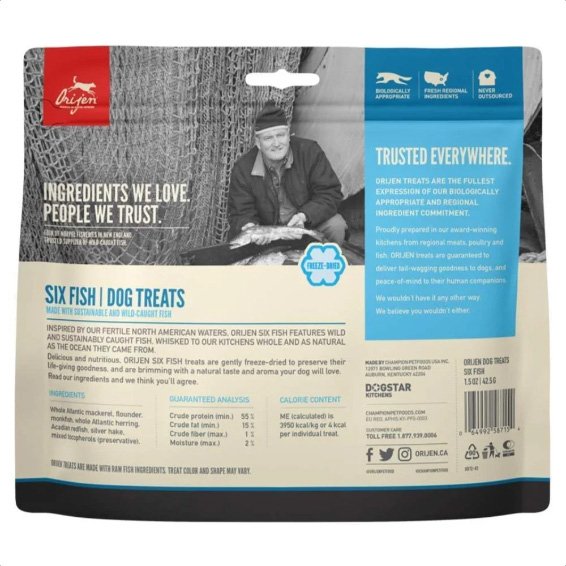 Origen Six Fish Freeze Dried Dog Treats