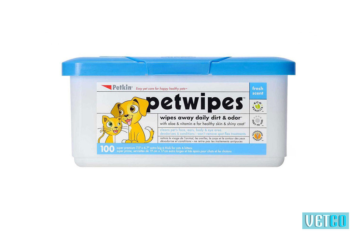 petkin pet wipes 100
