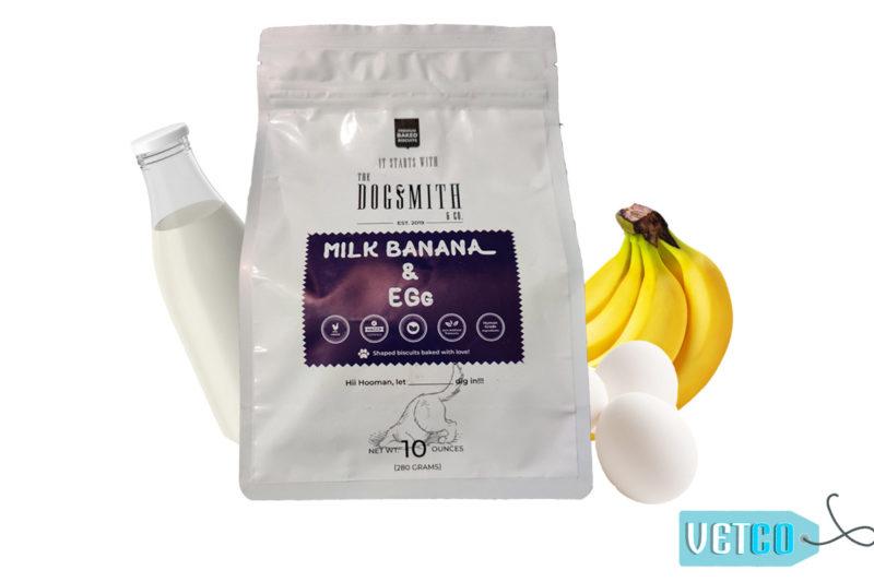 Dogsmith & Co Natural Banana, Egg & Milk Dog Biscuits