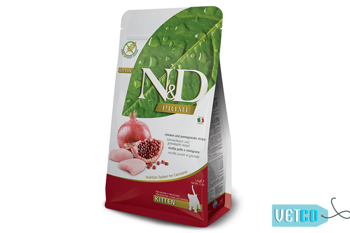 Farmina N&D Prime Grain Free Chicken & Pomegranate Kitten Dry Food