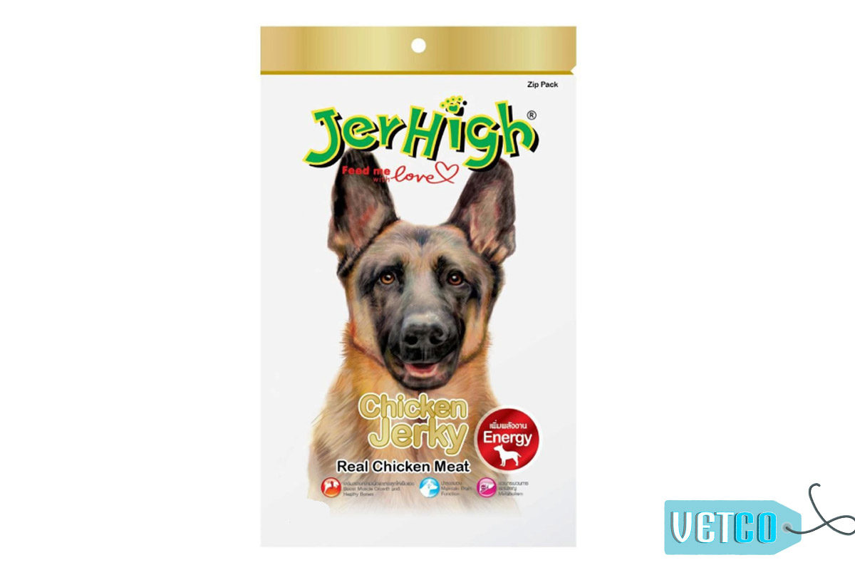 JerHigh Chicken Jerky Dog Treats with Real Chicken, 70 gms
