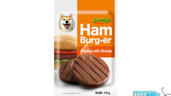 JerHigh Chicken With Shrimp Hamburger Dog Chew Treat