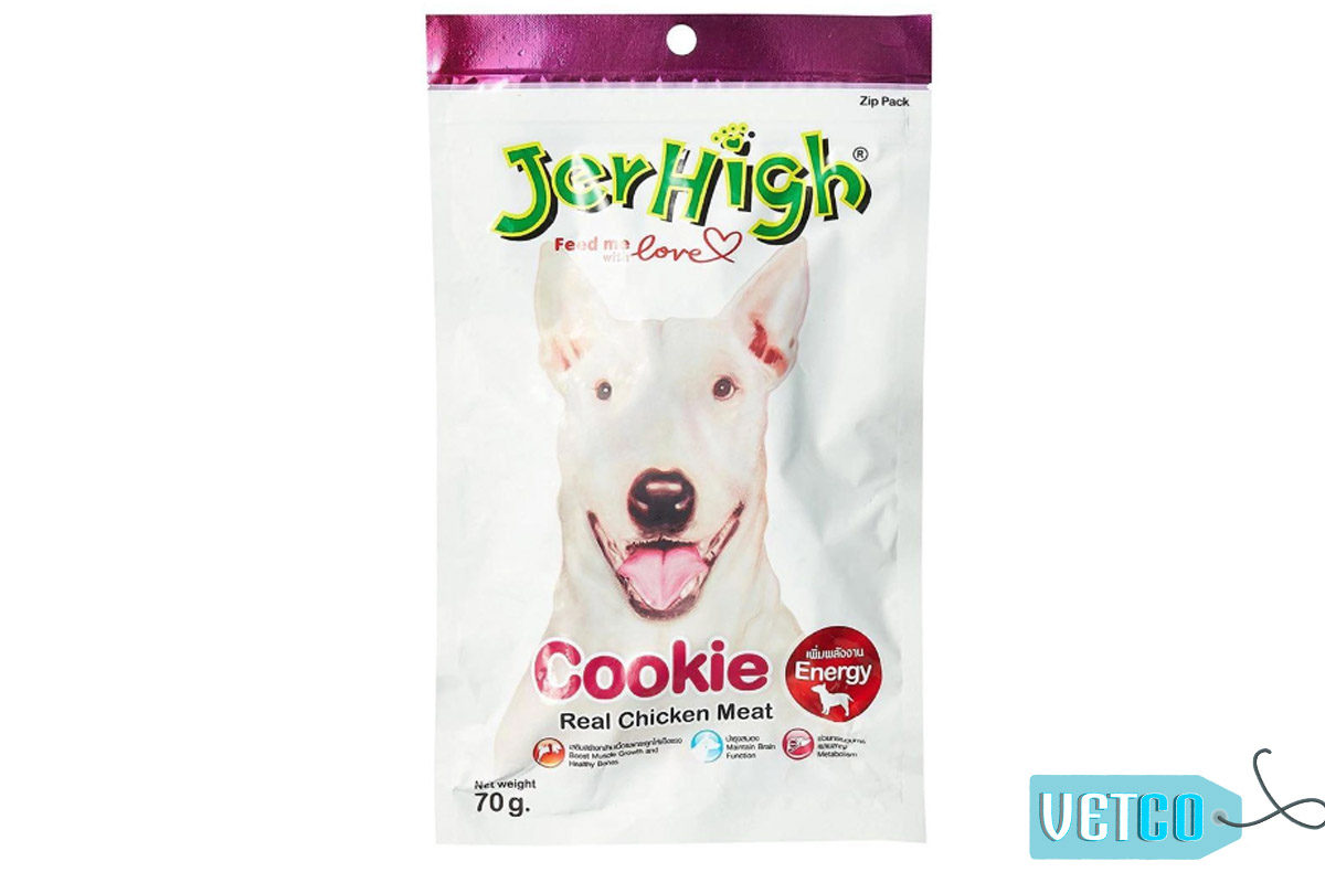 JerHigh Cookie Dog Treats with Real Chicken, 70 gms
