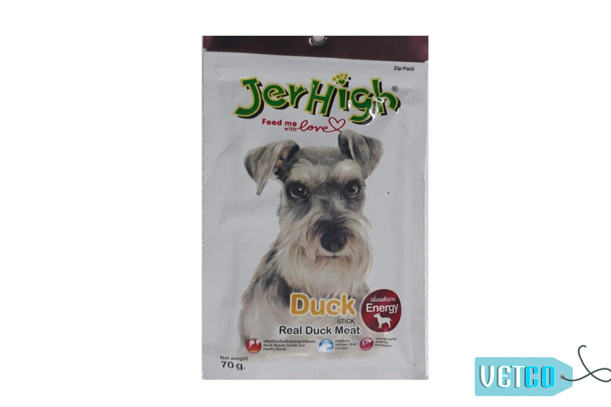 JerHigh Duck Stick Dog Treats with Real Chicken, 70 gms