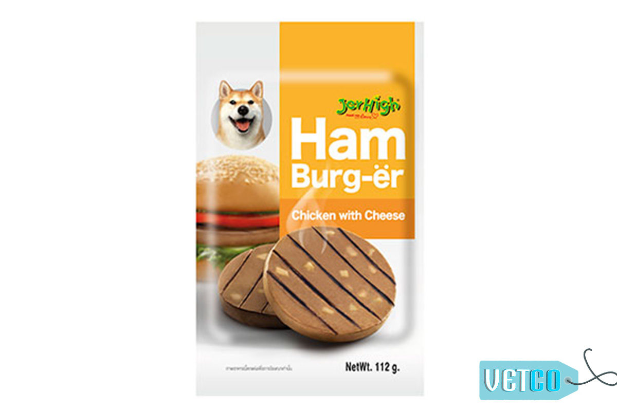 JerHigh Chicken with Cheese Hamburger Dog Chew Treats