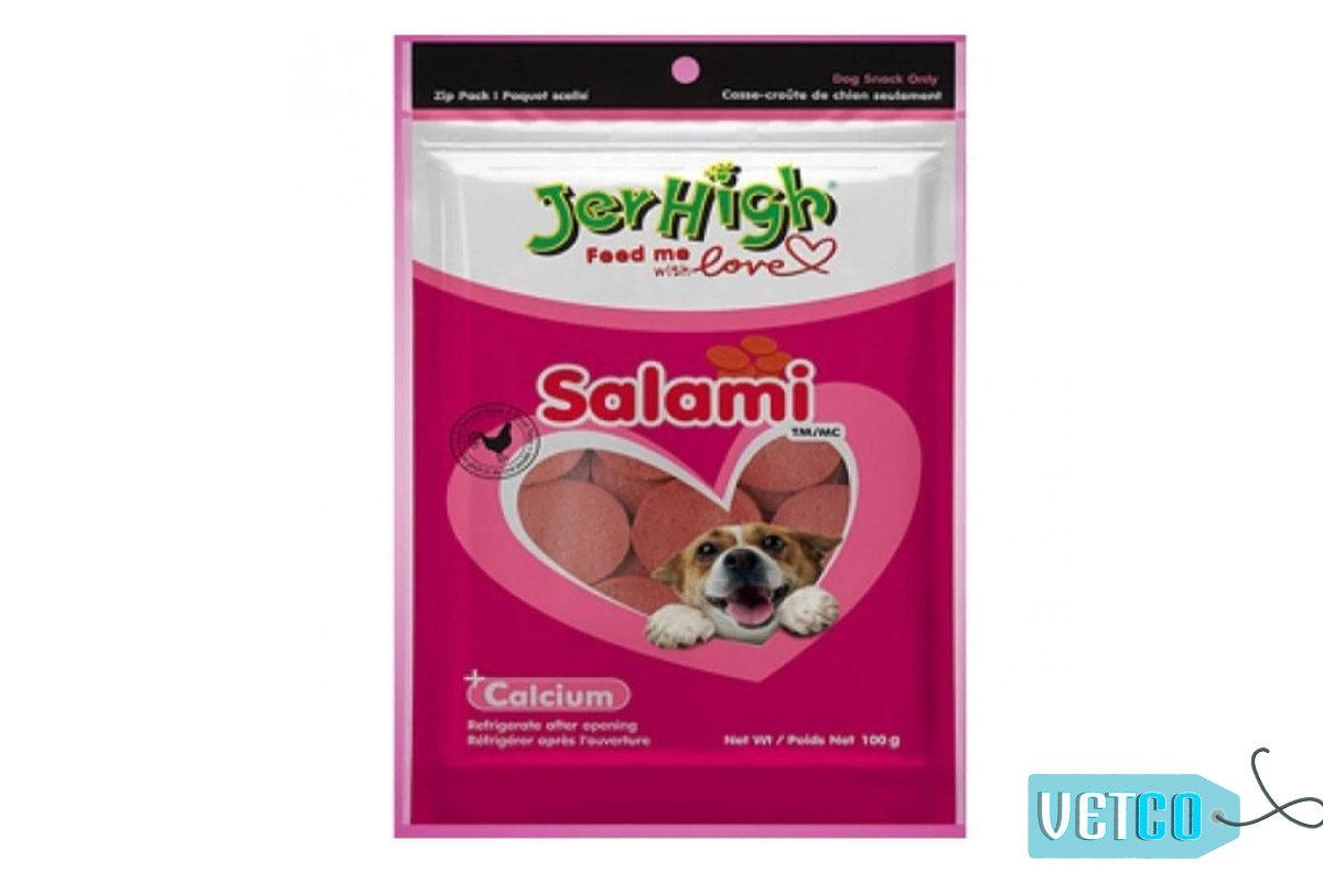 JerHigh Salami Chicken Meat Dog Treat, 100 gms