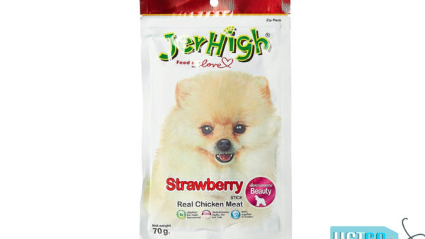 JerHigh Strawberry Stick Dog Treats with Real Chicken, 70 gms