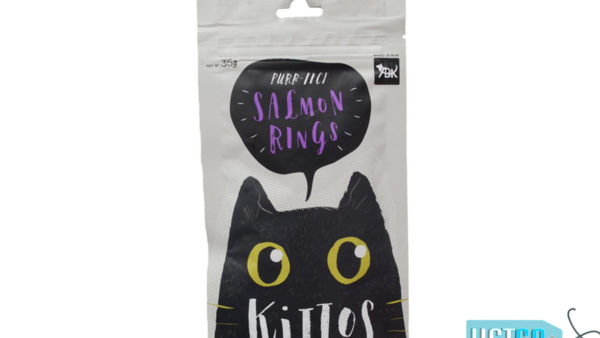 Kittos Salmon Rings Cat Treats (Pack of 2)
