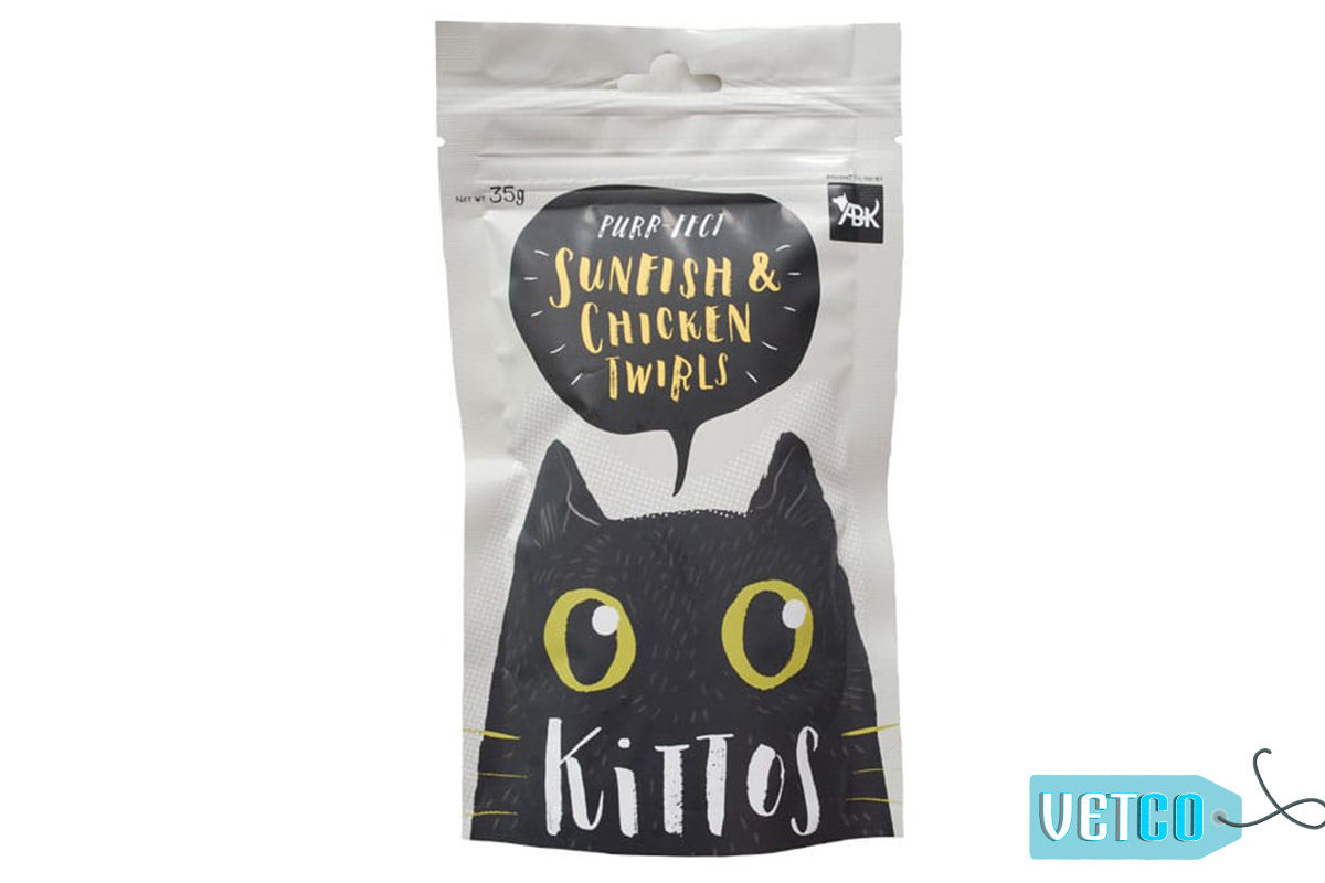 Kittos Sunfish & Chicken Twirls Cat Treats (Pack of 2)