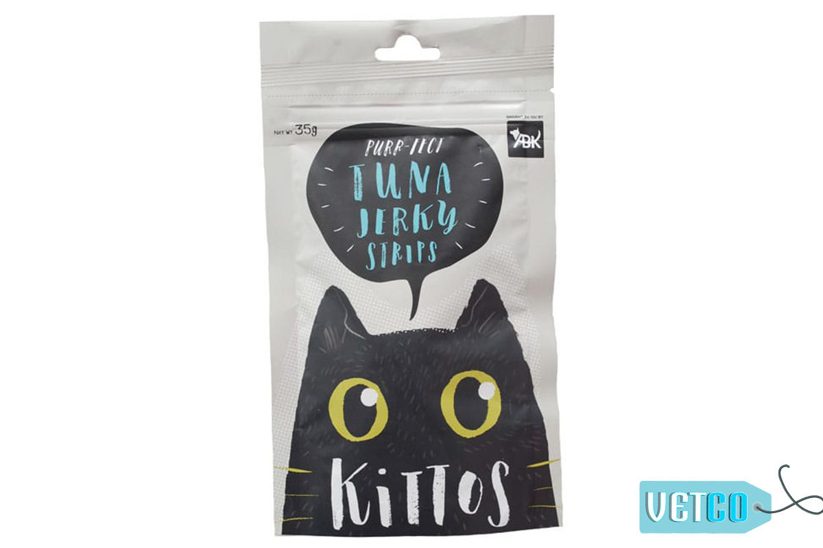 Kittos Tuna Jerky Strips Cat Treats (Pack of 2)