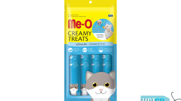 Me-O Creamy Cat Treats Chicken & Liver Flavour (Pack of 2)