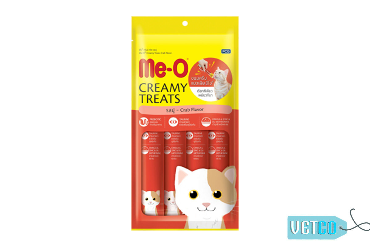 Me-O Creamy Cat Treats Crab Flavour (Pack of 2)