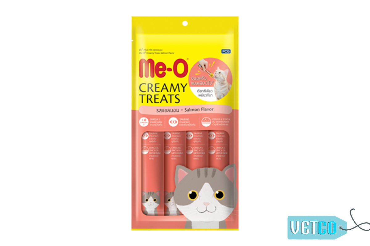 Me-O Creamy Cat Treats Salmon Flavour (Pack of 2)