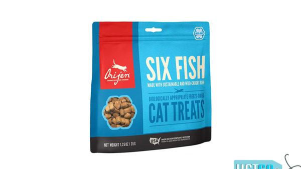 Orjen Premium Quality Six Fish Freeze-Dried Cat Treats, 35 gms
