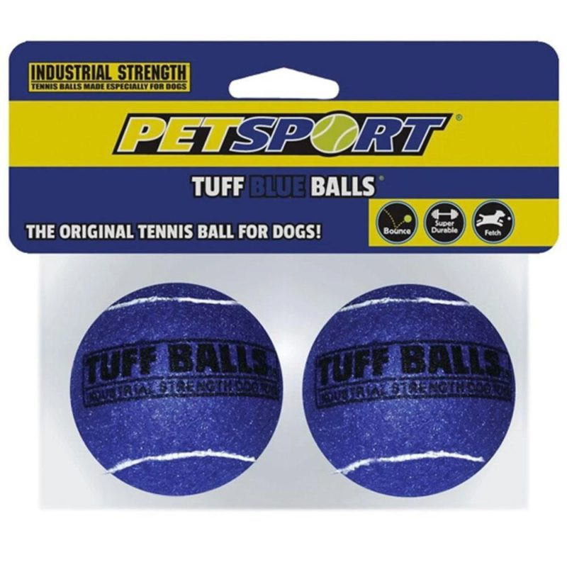Petsport Tuff Ball Dog Toy 2 Pack - Blue