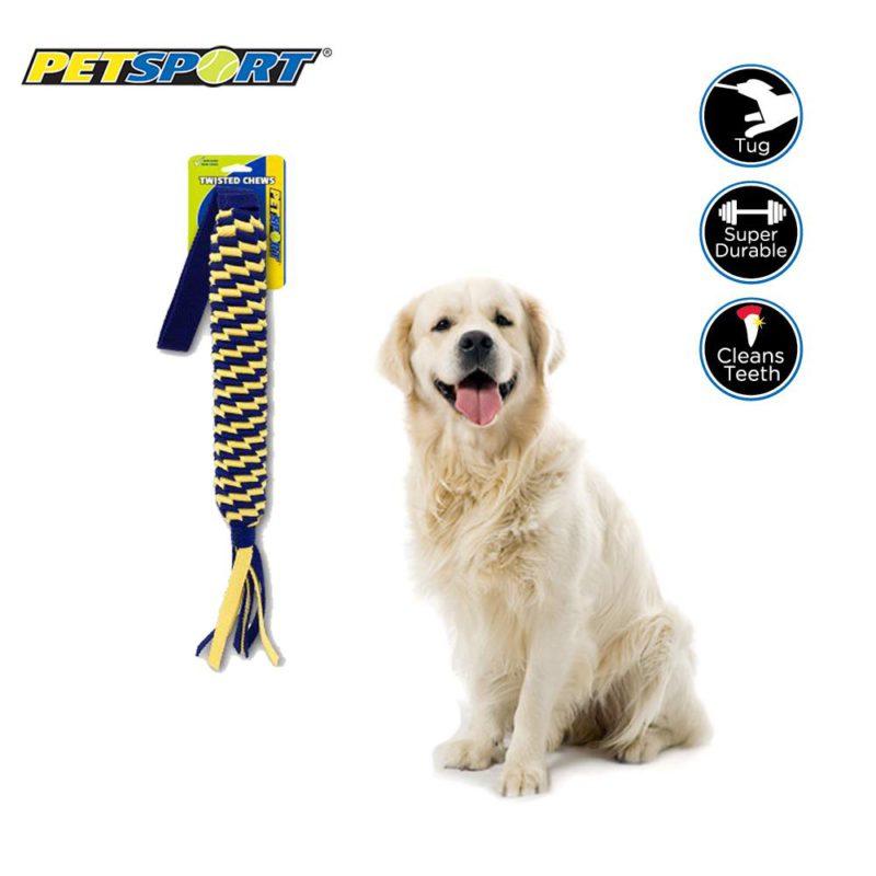 Petsport Twisted Chews Spring Tug Dog Toy