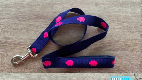PoochMate Babe Leash with Padded Handle - Navy Blue