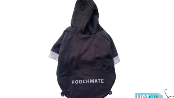 PoochMate Basic Black Dog Sweatshirt