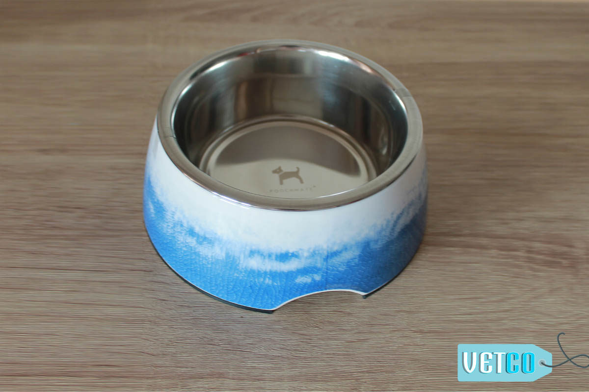PoochMate Cloudy Melamine Bowl - Blue