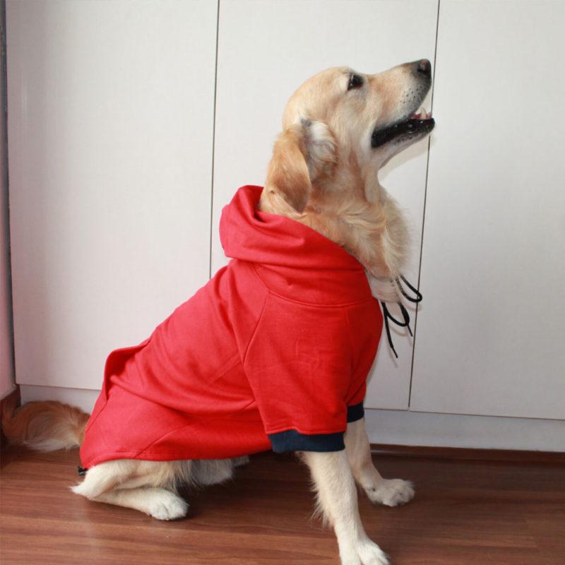PoochMate Red Pocket Dog Sweatshirt